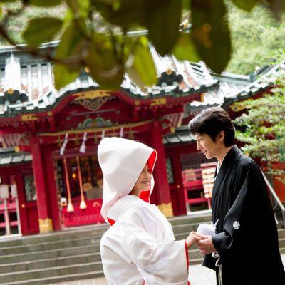 和装で神社婚、家族婚は旅館宿泊居ウェディング