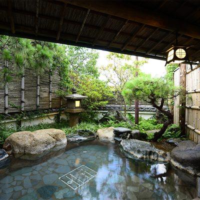 箱根旅館宿泊ウェディング・温泉の様子