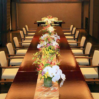 家族婚・会食前の席の様子。旅館宿泊ウェディング