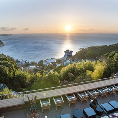 熱海宿泊家族婚ウェディング・海が見えるホテルの様子