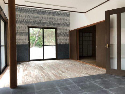 畳から床材を変えて繋げたLDK|ウェディングリノベーション