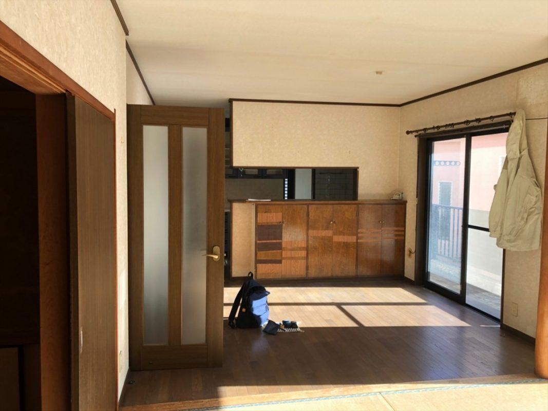 壁のあるキッチンをオープンにリノベーション