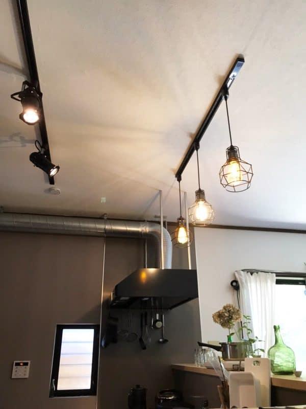 キッチン上の照明|ウェディングリノベーション