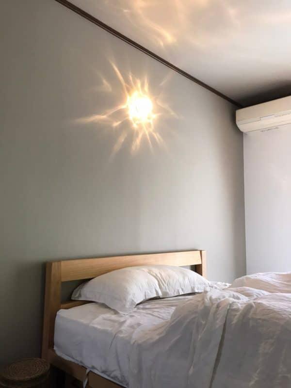 寝室の照明|ウェディングリノベーション